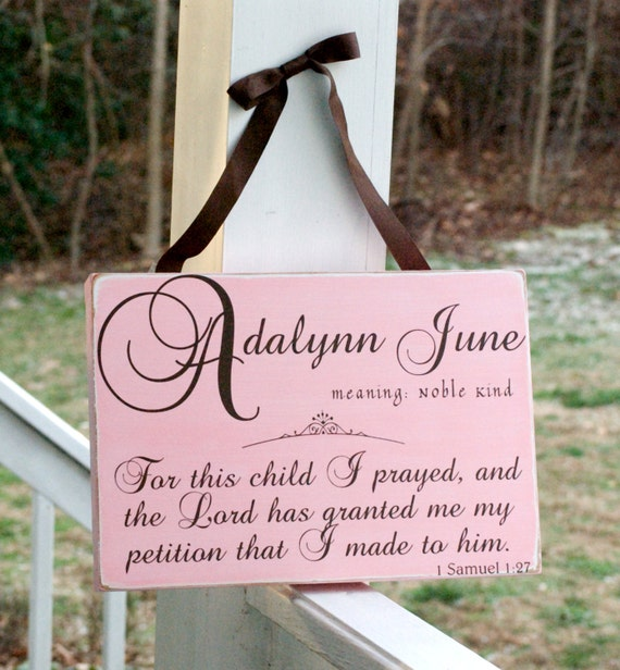 Items Similar To Custom Baby Name Board Sign Plaque