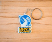 Don't Panic Keychain - The Hitchhiker's Guide to the Galaxy Laser cut Acrylic