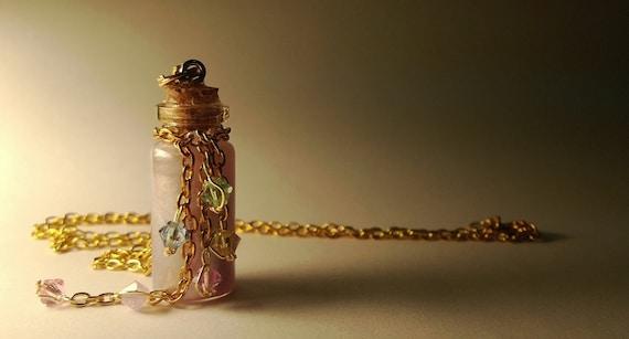 Rapunzel Vial Necklace - Disney Tangled Princess Inspired - Handmade, Corked Glass Bottle