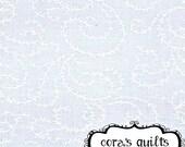Moda Fabrics Muslin Mates - 1 Half Yard Cut in Swirling Vines, White - 9933 11