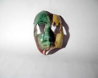 Mask Raku Ceramic, Female face - OOAK