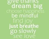 Word Art Print - Give thanks