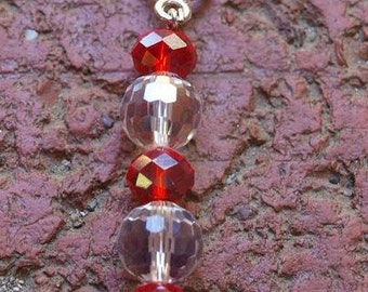 15#. Red and Clear Crystal Pendant