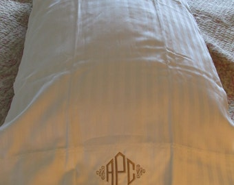 Embroidered Sheet set w/ monogram(full size shown) Gift Idea