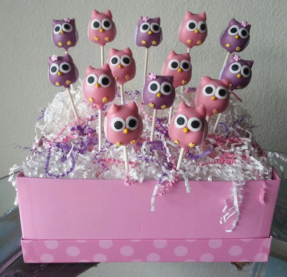 Owl Baby Shower Supplies: Owl Cake Pops Owl Baby Shower Owl Bridal Shower Edible