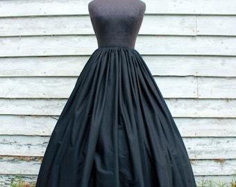 READY TO SHIP! Black Long Skirt - Civil War Reenactment - Renaissance or Pirate Costume