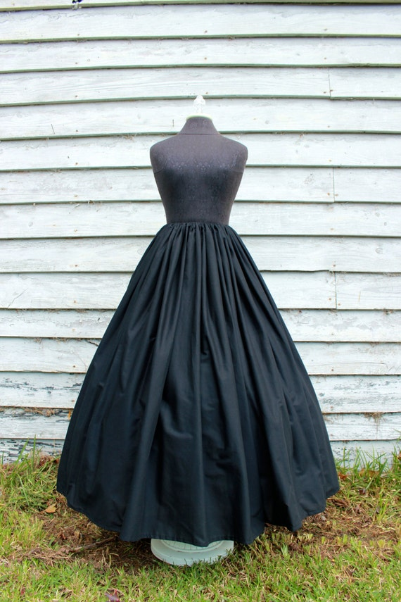Black Full Length Skirt
