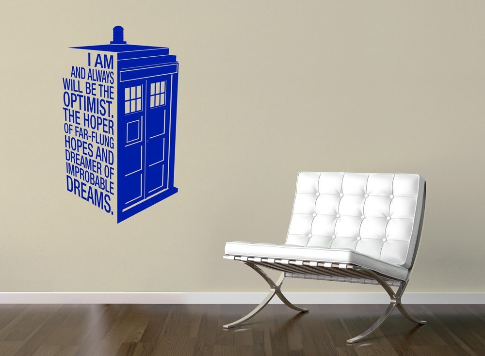 custom dr who 39 s tardis sticker quote police by endoflinedesign. Black Bedroom Furniture Sets. Home Design Ideas