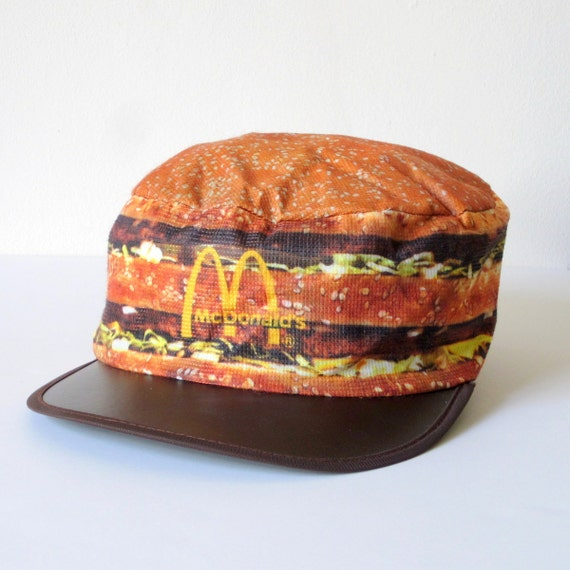 Vtg 1984 Mcdonalds Big Mac Baseball Hat Cap