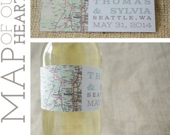 """Personalized Wine Labels (2""""x6"""") Free Shipping"""