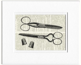scissors and thimballs print