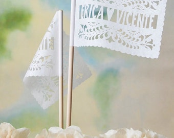 Papel Picado Flags - Personalized SANTA CRUZ banderitas - Any occasion