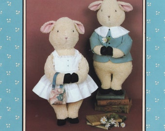 Jenny Wren 23 1980s Sweet William and Ivy Lamb Doll and Lamb Doll Clothes Pattern 25 Inch Vintage Stuffed Animal Sewing Pattern UNCUT