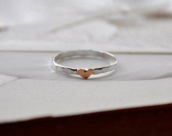 Warm Hearts Silver Stacking Ring