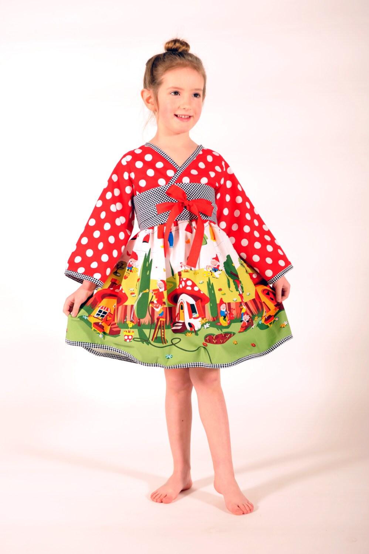 Happy Gnomeville Kimono Dress Girl Dresses Children