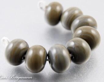 Rustic Brown Lampwork Spacer Beads, SRA Handmade Glass Jewelry Supplies