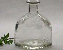 Patron Bottle, Patron Tequila Bottle, Crafts, Bar Decor, Man Cave Decor, Square Clear Glass Bottle