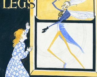 Daddy Long Legs, Jean Webster, Novel, Art Deco Print