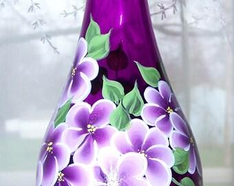 Magenta Vase Hand Painted