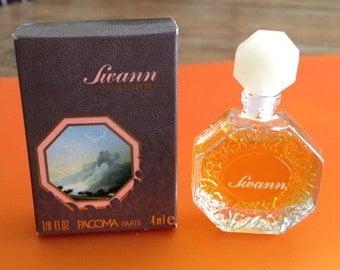 Vintage perfume, Swann eau de toilette, Pacoma perfumes, 1980s Paris France, whole tiny bottle, 1/8 fl. oz., new old stock, discontinued