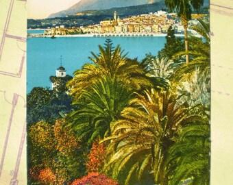 Menton - 1930 - Vintage French Postcard