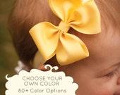 Baby Headband, Set of 6, Single Layer Pinwheel MEDIUM, Boutique Baby Headband Bow, More than 80 color options, infant headband