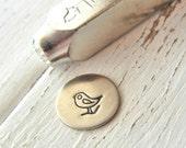Metal Stamp SALE - Song Bird by ImpressArt - Design Stamp 6mm - Metal Design Stamp for Hand Stamped Jewelry - Design Punch ImpressArt