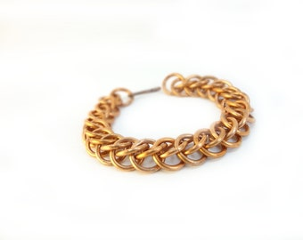 Reclaimed Copper Chainmaille Bracelet