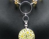 Boho Necklace, Resin Art Necklace, Daisy Necklace,  Flower Child