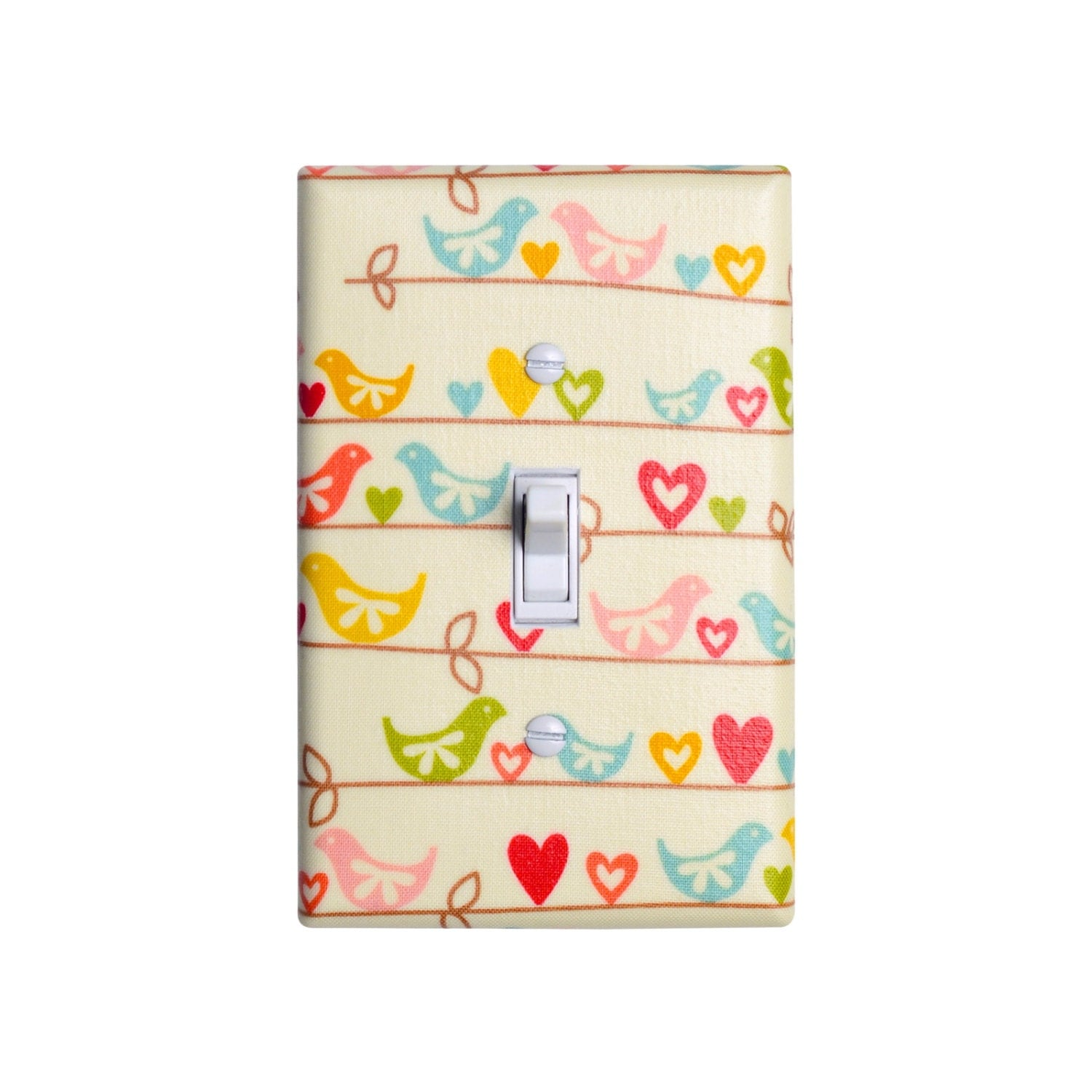 bird light switch plate cover girls kids room baby nursery
