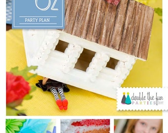 PARTY PLAN: Wizard of Oz Birthday Party - Wizard of Oz Party - Party Planning Guide - Party eBook