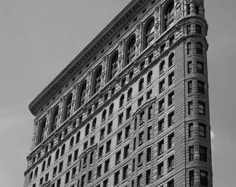 NYC Flat Iron Building Photograph. New York City. B/W. Black White. Big Apple. New York City. Architecture. Home Decor. Travel Photography.