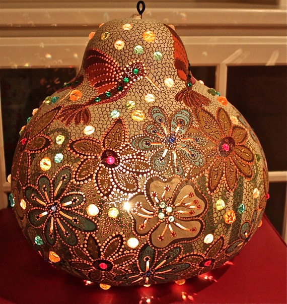 Original Wall Hanging Living Room Gourd Lamp Glass