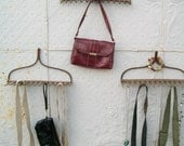 Wrought Iron Old Rake Great Hook - Hanging Collectibles Towel Rack Organizing - Vintage Colors