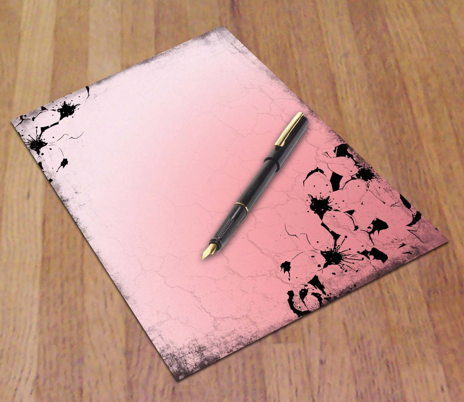 Printable Journal Paper Cherry Blossom Letter Size 85 x 11 – Diary Paper Printable