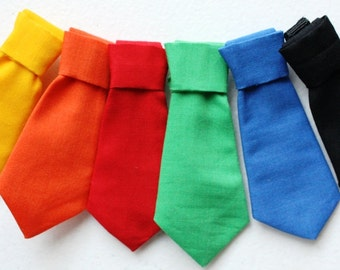 Dog Necktie, Cat Necktie, Removable Cat Neck Tie, Wedding Dog Neck Tie, Black Red Blue Green Yellow Orange