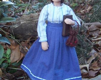OOAK Doll 12 inches Prairie School Teacher