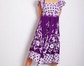 VTG 70s summer maxi cotton dress