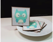 Adorable Little Owl- Mini Cards Thank You Cards  ( Set of 4)