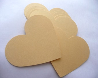 Die Cut Hearts 50 Large Paper Hearts Gold hearts Silver hearts Wedding decorations, Love, Bridal, Marriage, Scrapbooking, Party