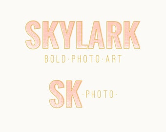 Premade Modern Photography Logo and  Watermark