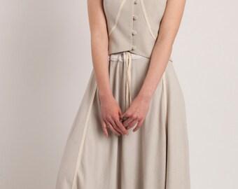 SALE Maxi cotton skirt,Summer skirt,Long skirt,Flowy skirt,Hi low skirt,Bohemian skirt,Full circle skirt,Spring skirt,Full skirt dress