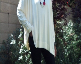 Slouchy Over Sized Bat Wing Jersey Tunic - All Sizes Available - New Colors Added