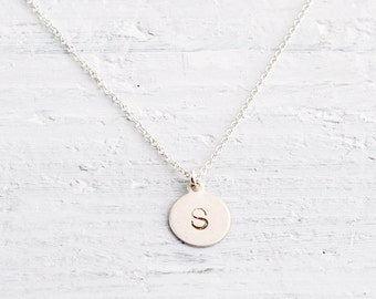 RESERVED LISTING 20 Sterling Silver Initial necklaces - personalized jewelry - engraved charm necklace - Sterling Initial Tag
