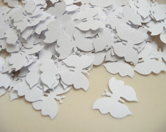 Paper butterfly confetti small white die cut butterflies wedding table confetti white wedding confetti white wedding shower confetti