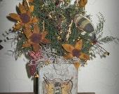 Sunflowers  Primitive Arrangement