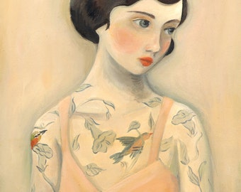 Tattooed Lady, Rara Avis / Large Print 11x14 by Emily Winfield Martin