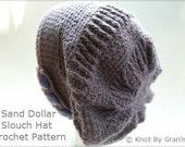 Sand Dollar Slouch Hat - PDF Crochet Pattern