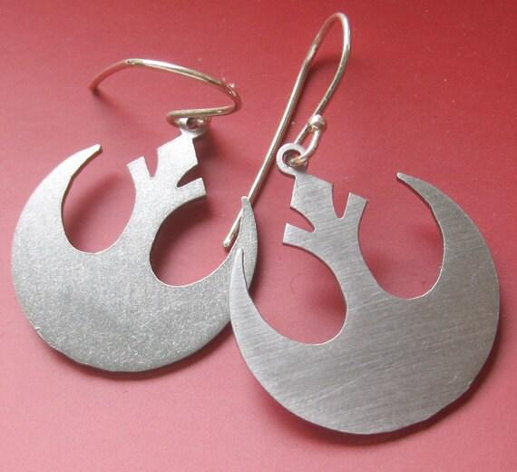 Rebel Insignia Laser Cut Earrings