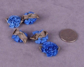 SALE 15 Blue Satin Flowers (SFBF-15)